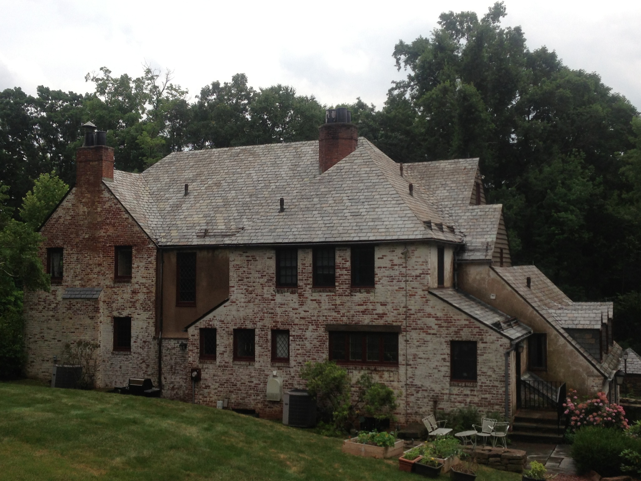 after slate roof cleaning
